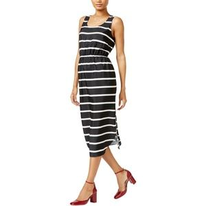 NWT MAISON JULES Striped Midi Dress Size M